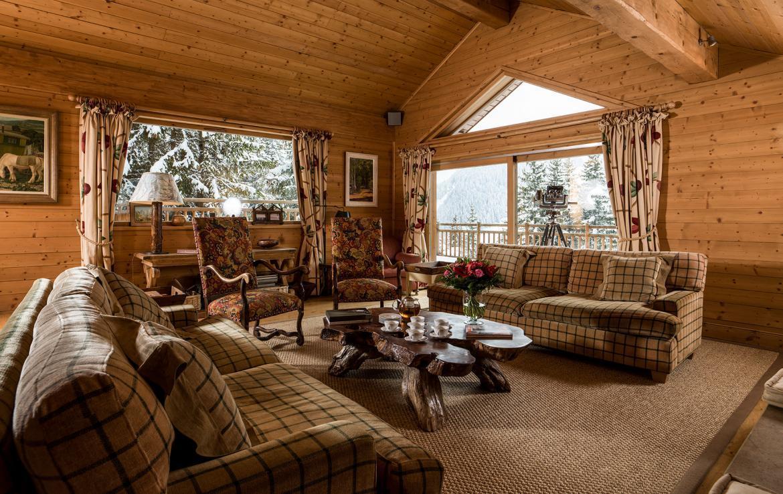 living room chalet meribel