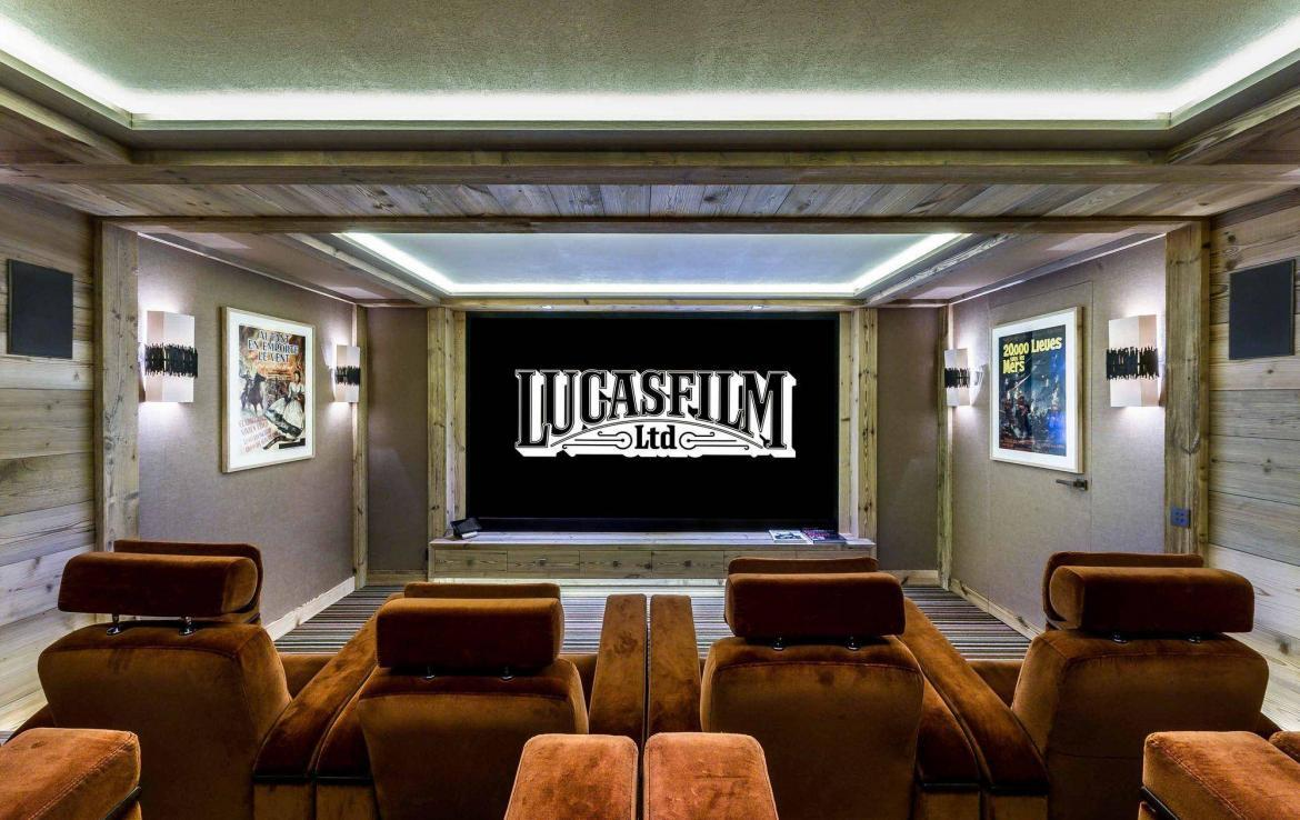 cinema ski in out chalet courchevel