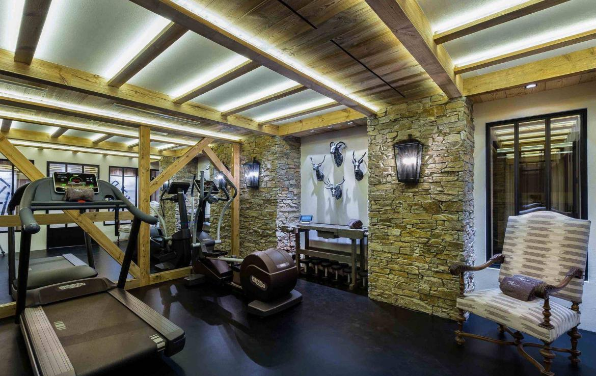 fitness gym in chalet courchevel