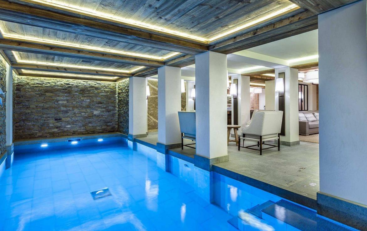 indoor pool ski chalet courchevel