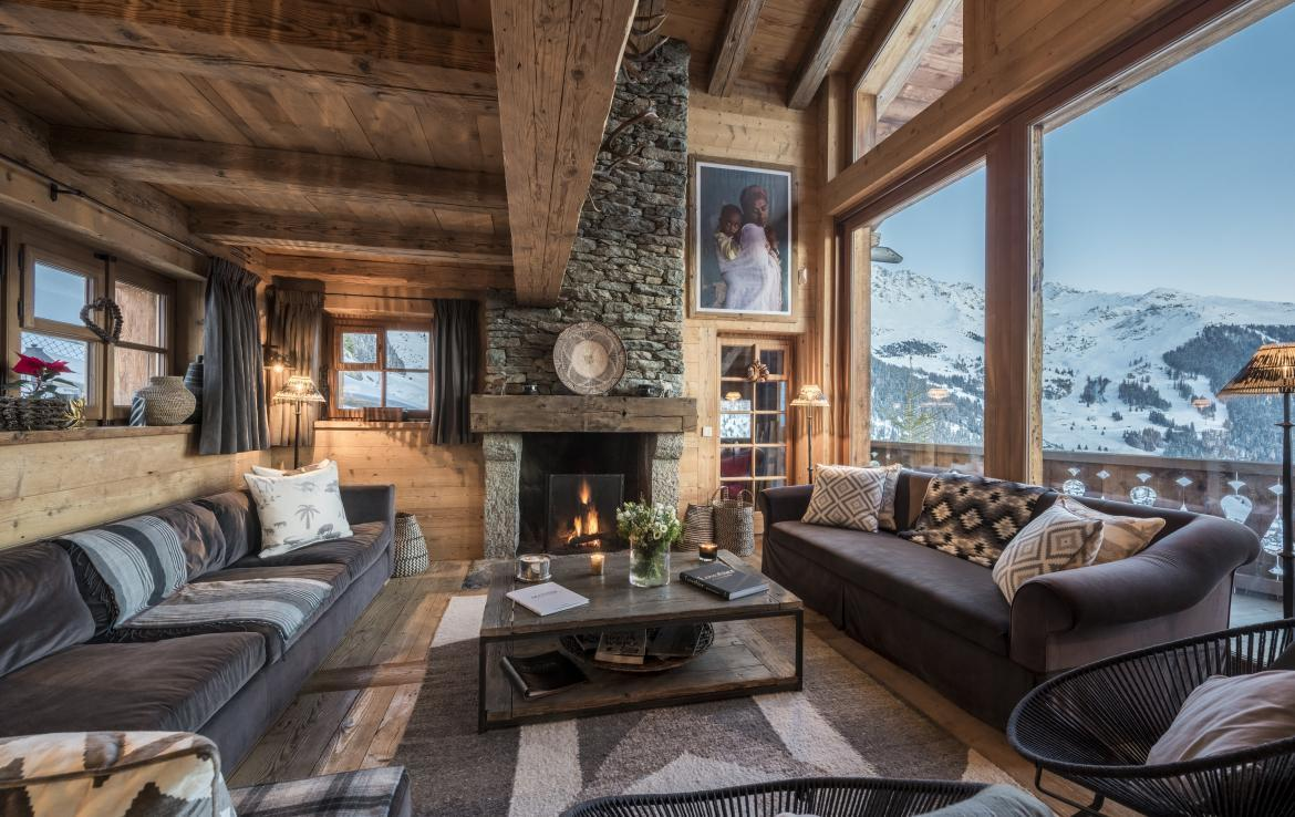 living room luxury chalet verbier