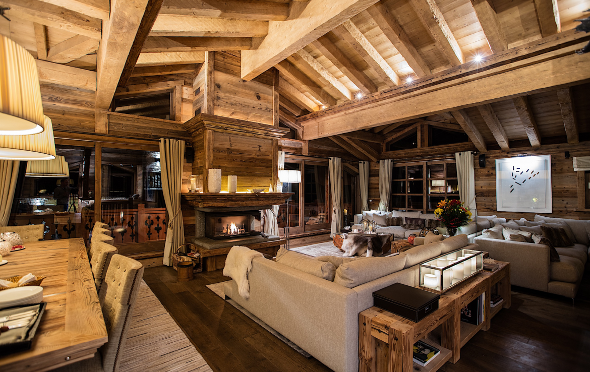 chalet gentianes courchevel living