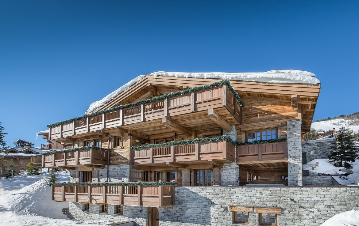crystail chalet in courchevel france