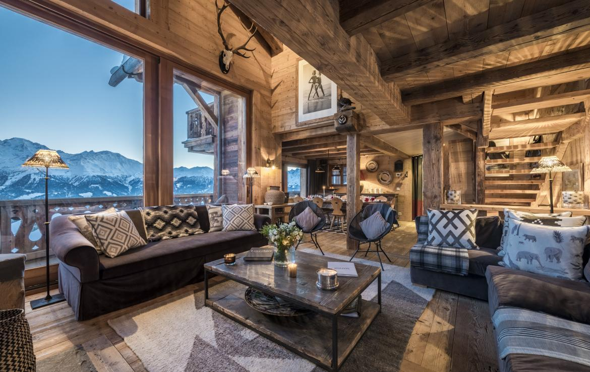 living room chalet sonalon verbier