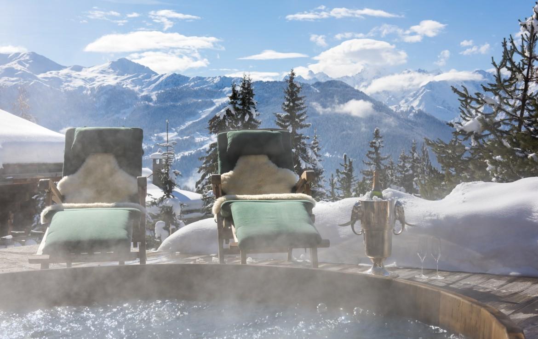 verbier jacuzzi stunning views luxury