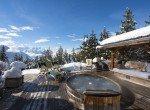 verbier luxury chalet outdoor jacuzzi