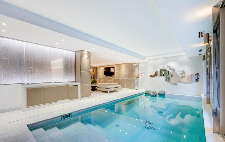 luxe chalet megeve zwembad huren