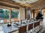 dining table chalet des sens megeve