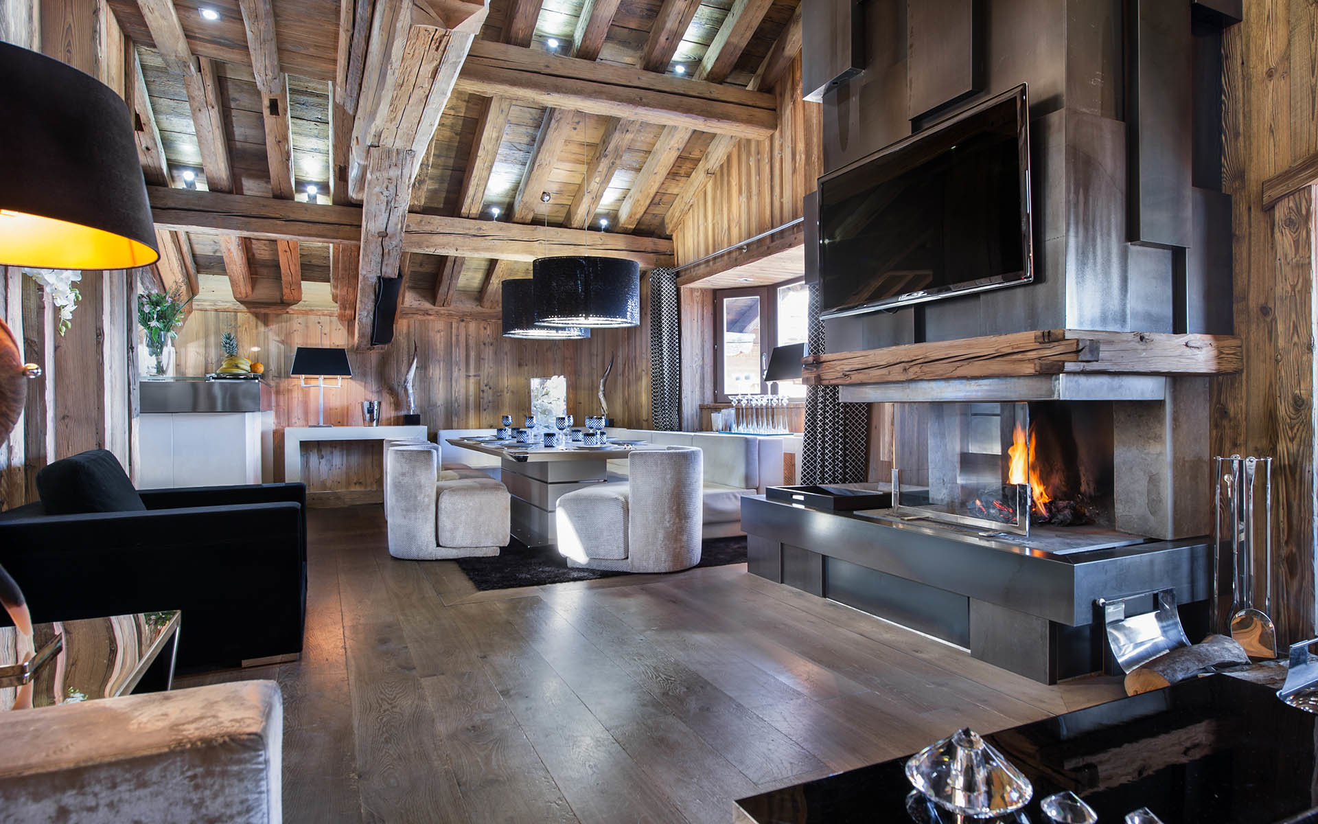 dining chalet carat courchevel