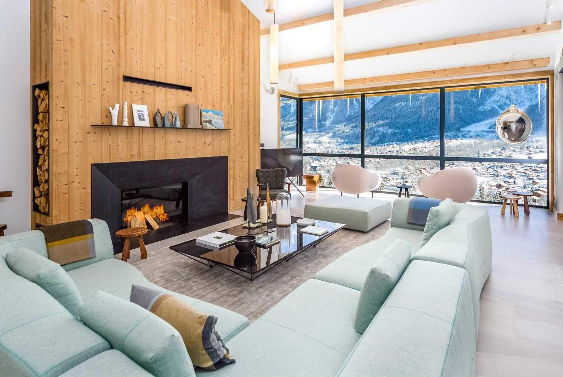 living room le chalet chamonix
